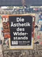 Poster on the street in Berlin