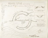 Robert Smithson, sketches, Broken Circle Spiral Hill, 1971