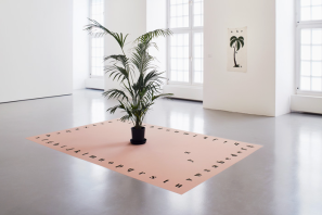 Installation view of Marcel Broodthaers's 2015 retrospective at the Fridericianum, Kassel, Germany. ART, FROM LEFT: ©2015 THE ESTATE OF MARCEL BROODTHAERS/VG BILD-KUNST, BONN/COLLECTION VAN ABBEMUSEUM, EINDHOVEN; ©2015 THE ESTATE OF MARCEL BROODTHAERS/VG BILD-KUNST, BONN/ESTATE MARCEL BROODTHAERS; PHOTO: ©ACHIM HATZIUS