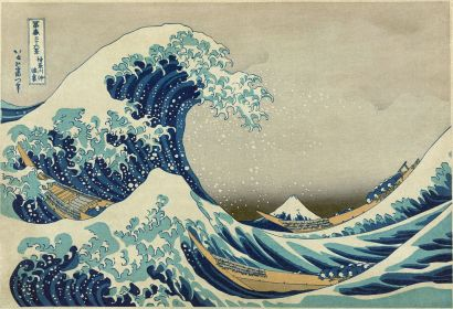 Hokusai, The great wave off Kanagawa, 1830-33
