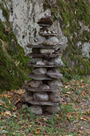 In the woods La Strada dei Cavalli di Verceia, Stacked Stones, 2016
