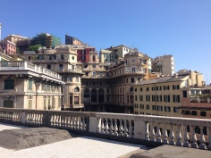 Roof terrace city centre Genoa