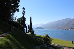 Park Villa Melzi, view on lake Como